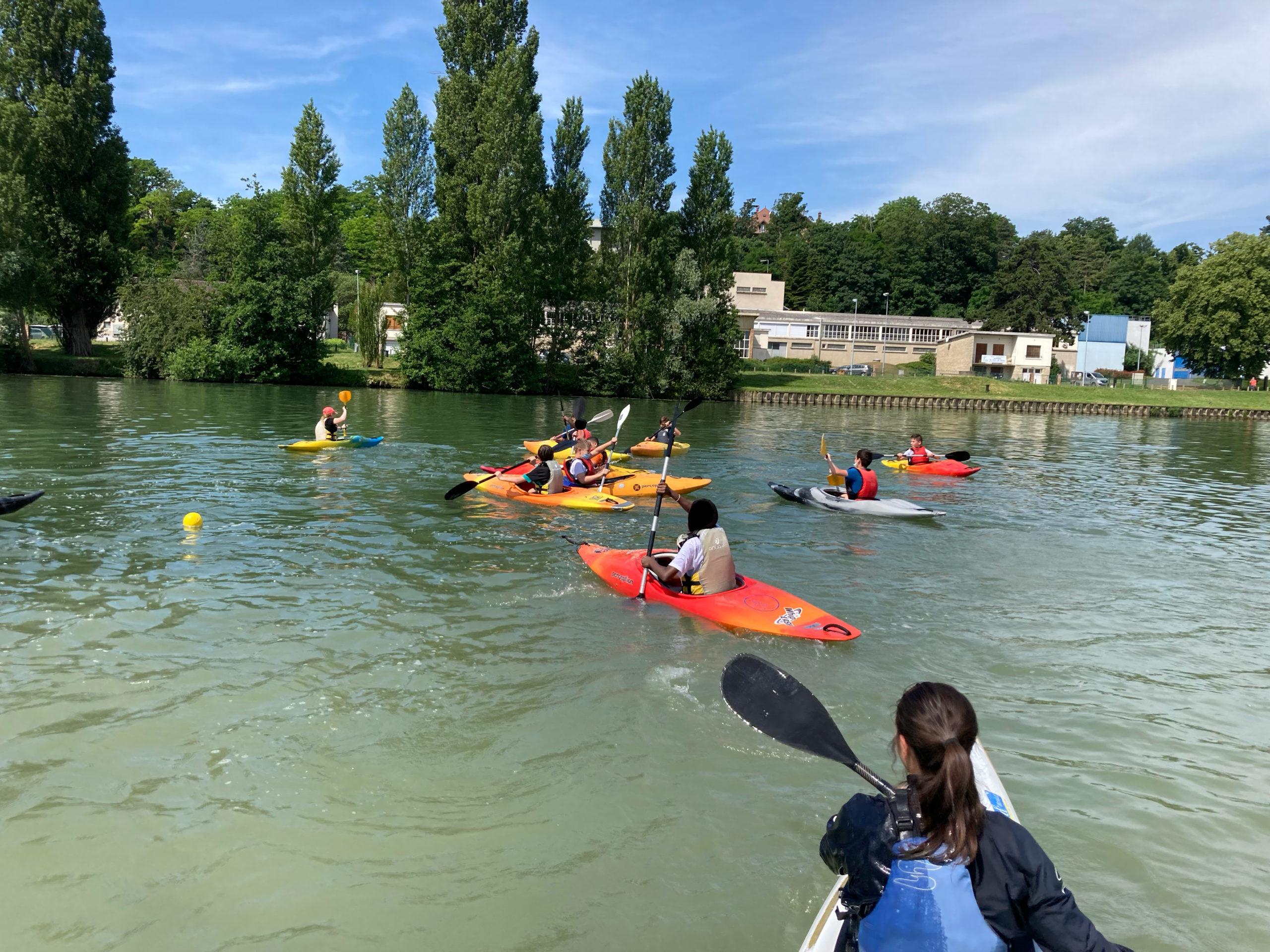 Initiation kayak pour les collégiens de Lizy-Sur-Ourcq